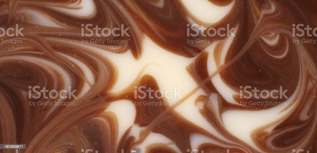 Twisted chocolate mixed texture. stock photo