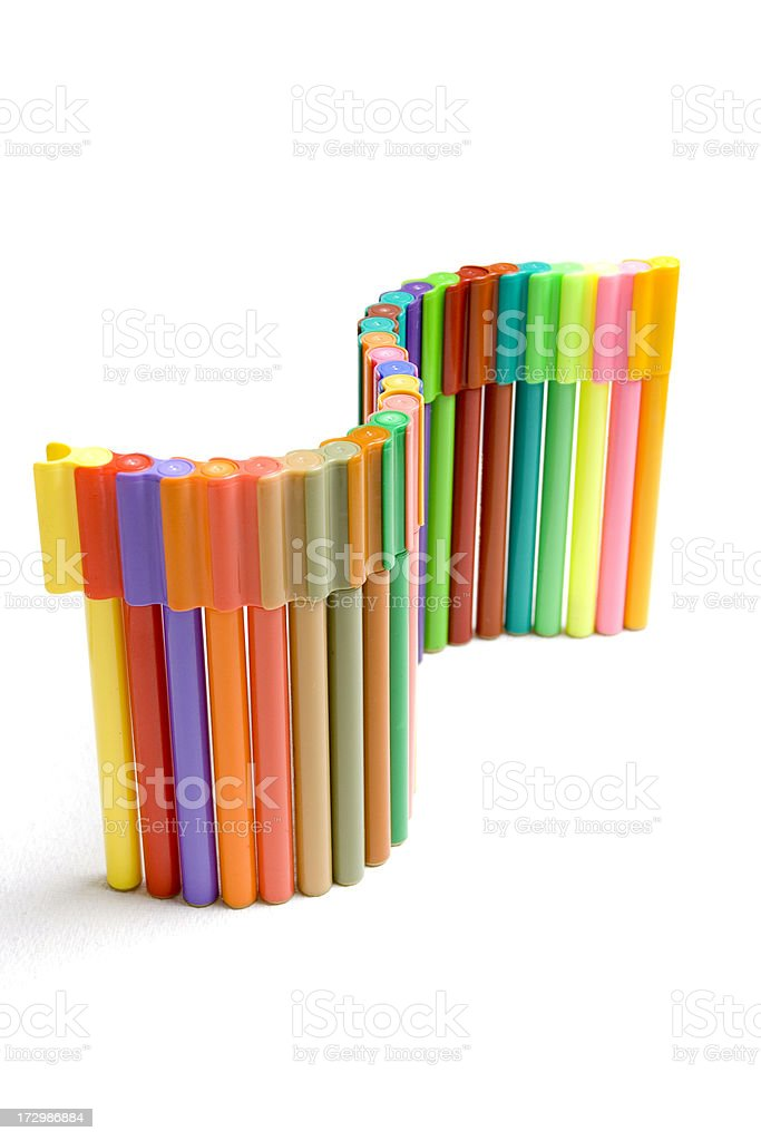 Twisted Colored pencils royalty-free stock photo
