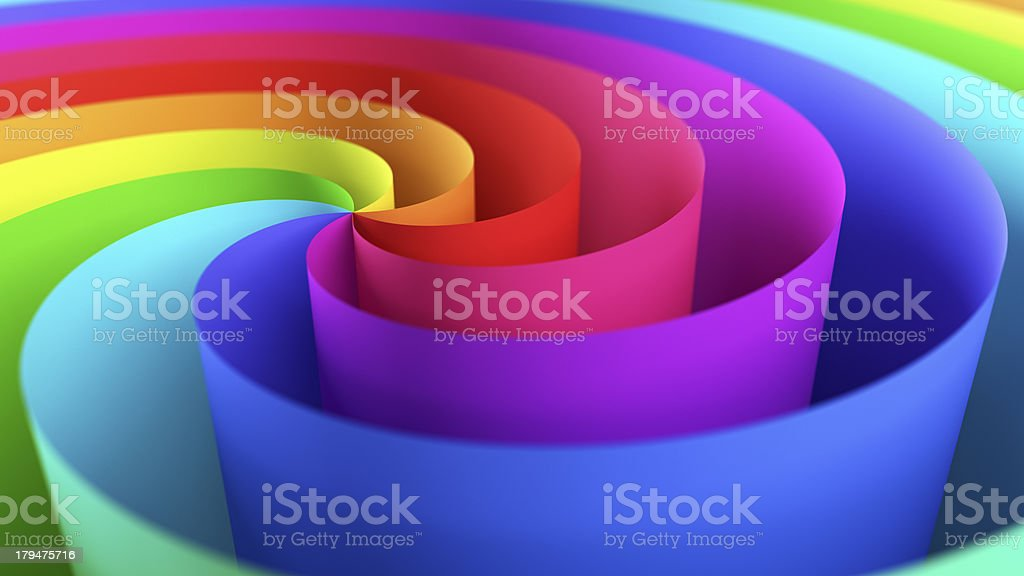 Twisted Colorful Paper royalty-free stock photo