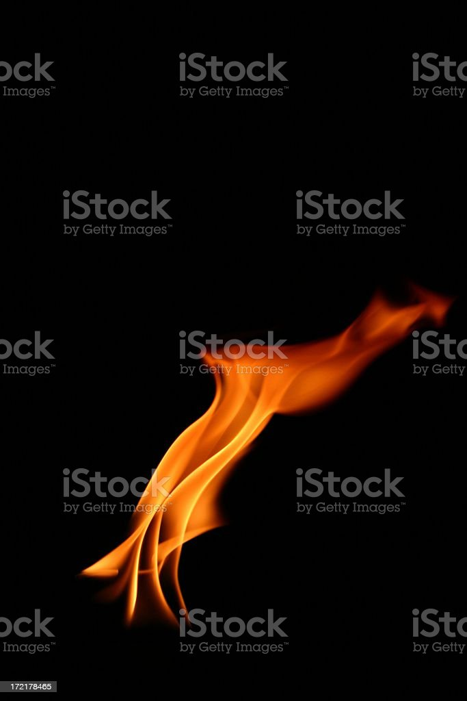 Twisted Flame stock photo