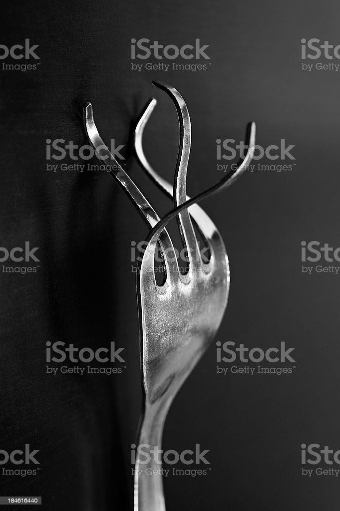 twisted fork stock photo