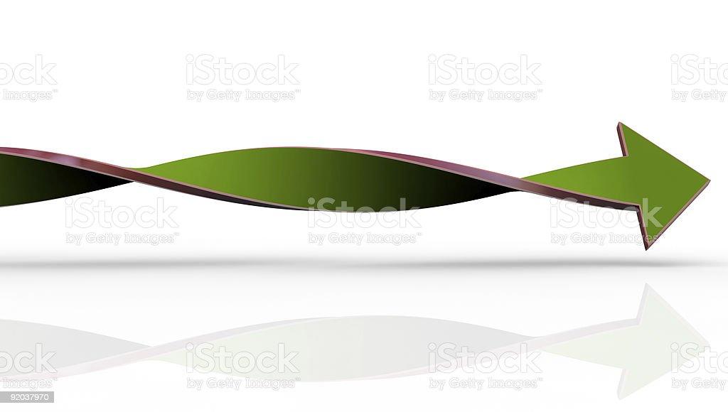 Twisted green arrow royalty-free stock photo
