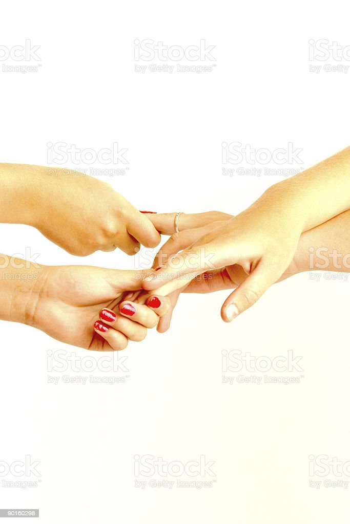 twisted hands royalty-free stock photo
