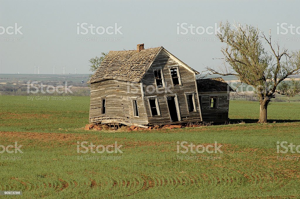 Twisted House royalty-free stock photo