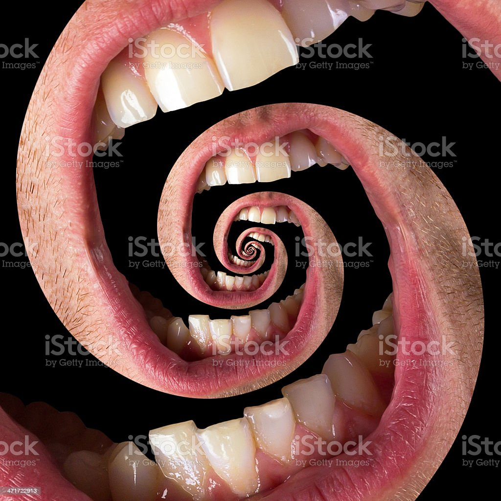 Twisted human mouth royalty-free stock photo