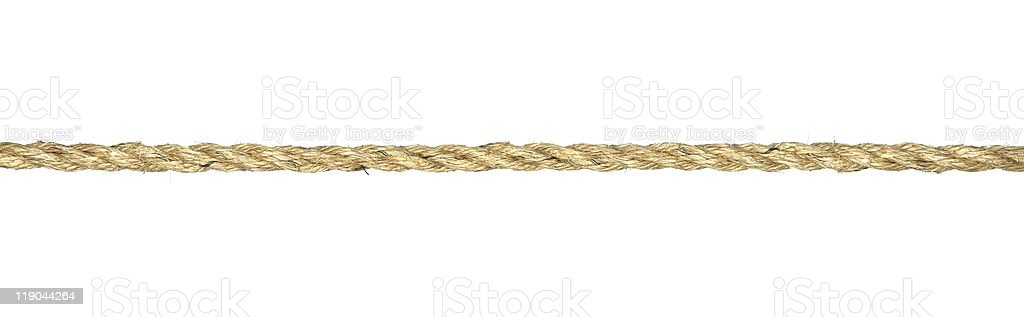 Twisted manila rope isolated on white stock photo