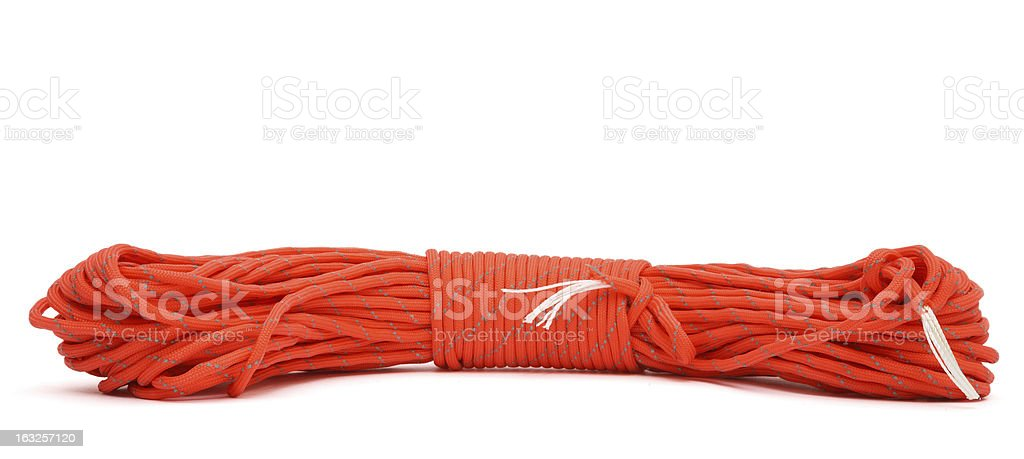 twisted paracord stock photo