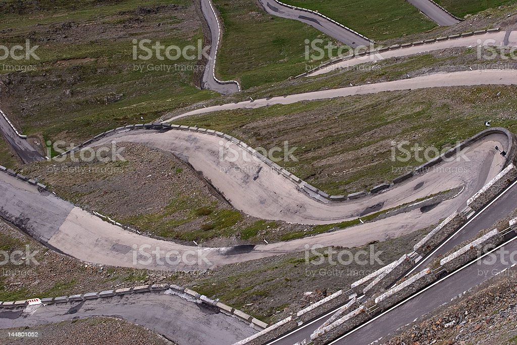 Twisted Road royalty-free stock photo