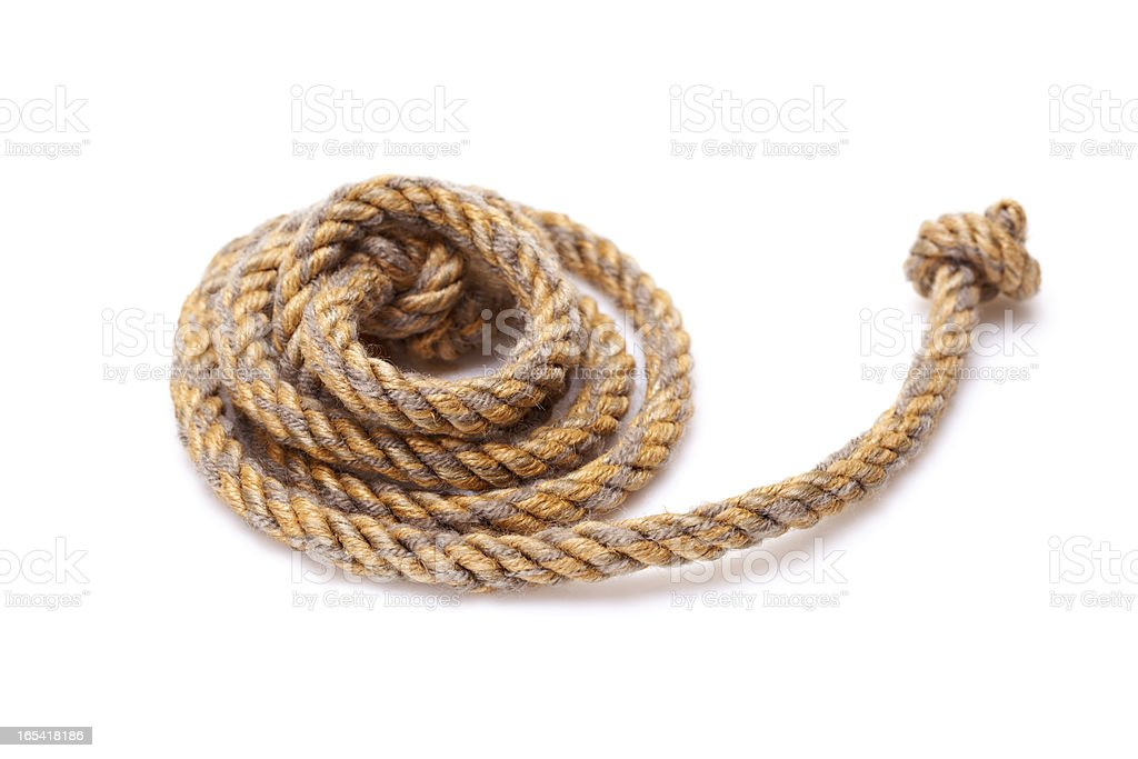 Twisted rope stock photo