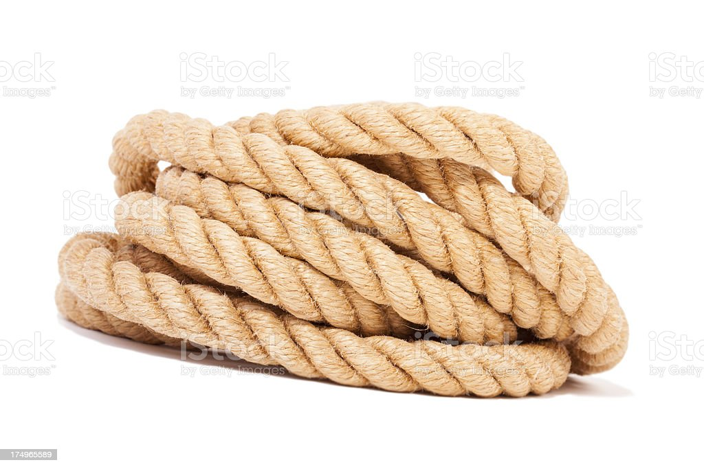 Twisted rope. royalty-free stock photo