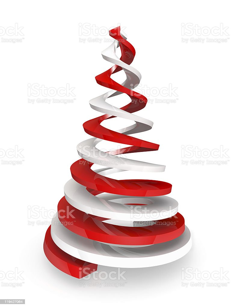 Twisted spirals stylized as pine. Clipping path is included royalty-free stock photo