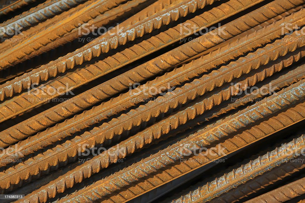 twisted steel construction materials royalty-free stock photo