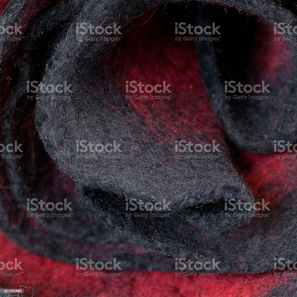 Twisted wool scarf stock photo