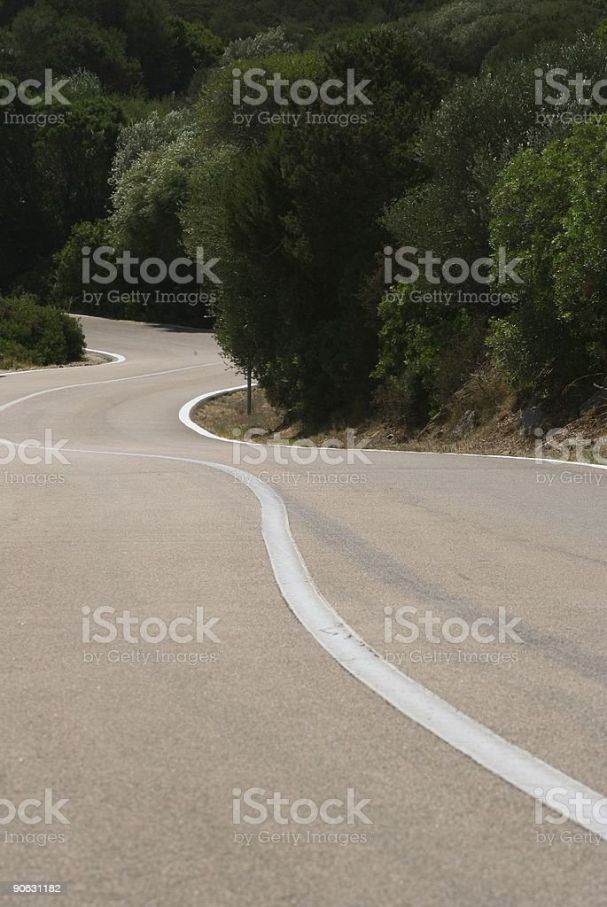 Twisting asphalt royalty-free stock photo