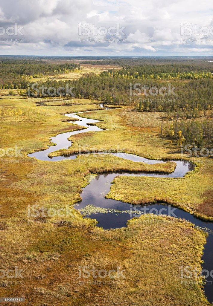 Twisting river. royalty-free stock photo