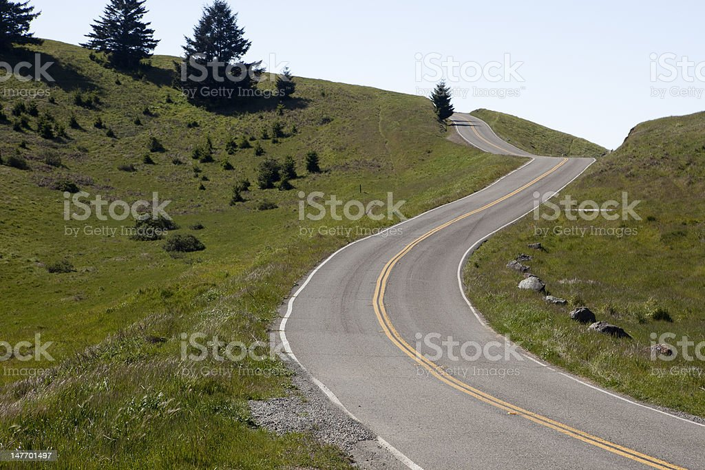 Twisting Road royalty-free stock photo