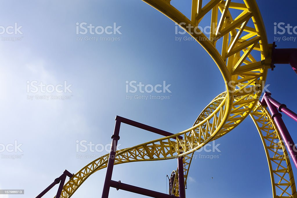 Twisting Roller Coaster Track royalty-free stock photo