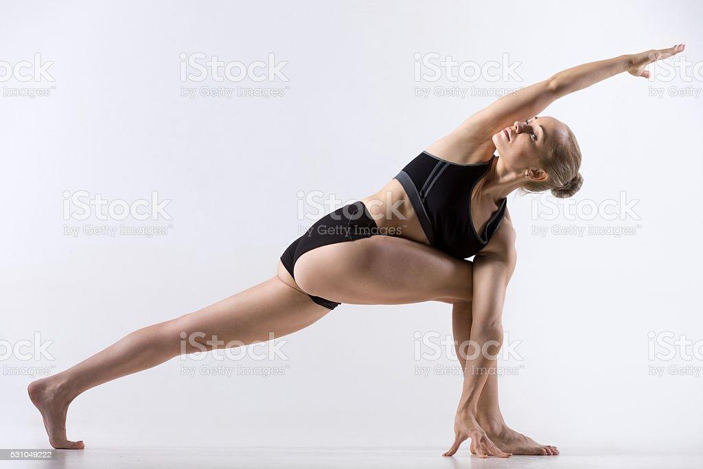 Twisting Side Angle Pose stock photo