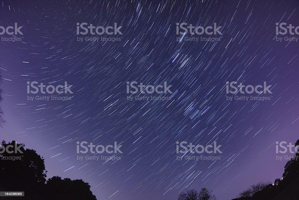 Twisting stars royalty-free stock photo