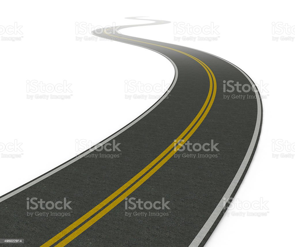 Twisty asphalt road stock photo