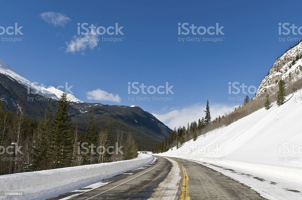 Twisty back country road royalty-free stock photo