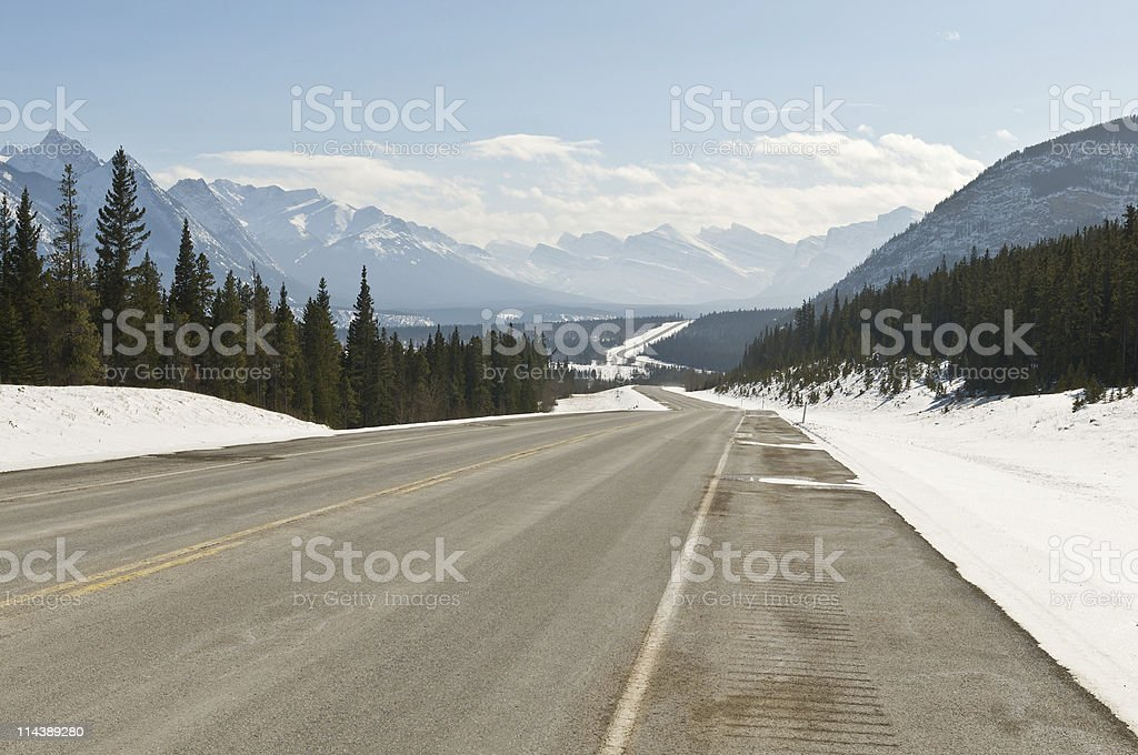 Twisty Canadian Road royalty-free stock photo