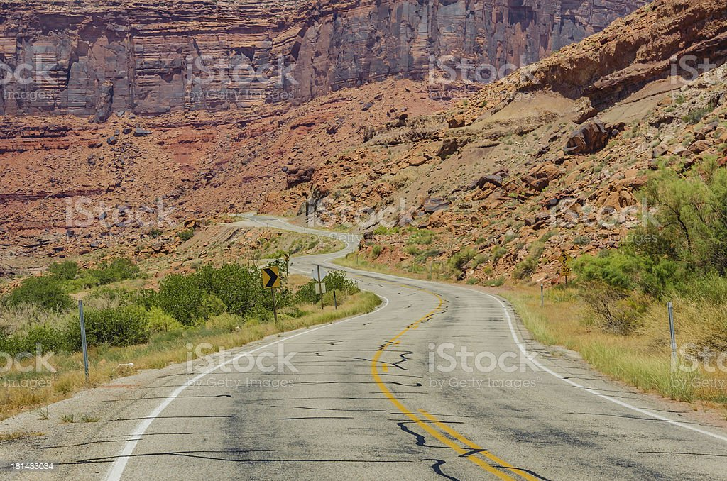 Twisty Canyon Road royalty-free stock photo