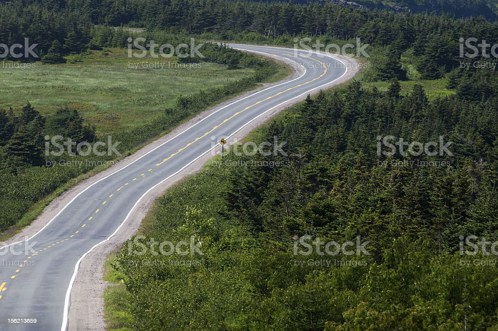 Twisty Country road stock photo