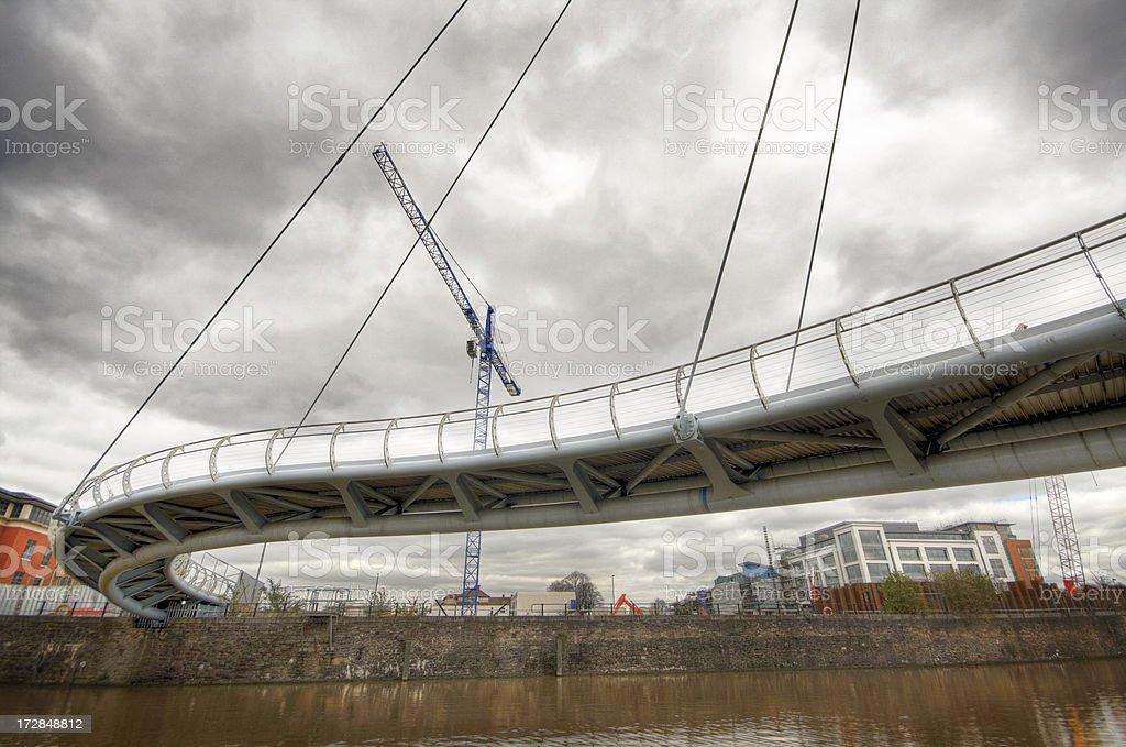 Twisty Footbridge royalty-free stock photo