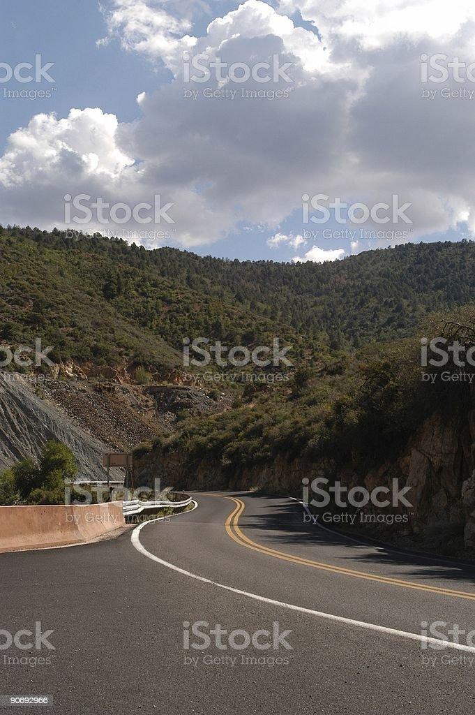 Twisty highway royalty-free stock photo