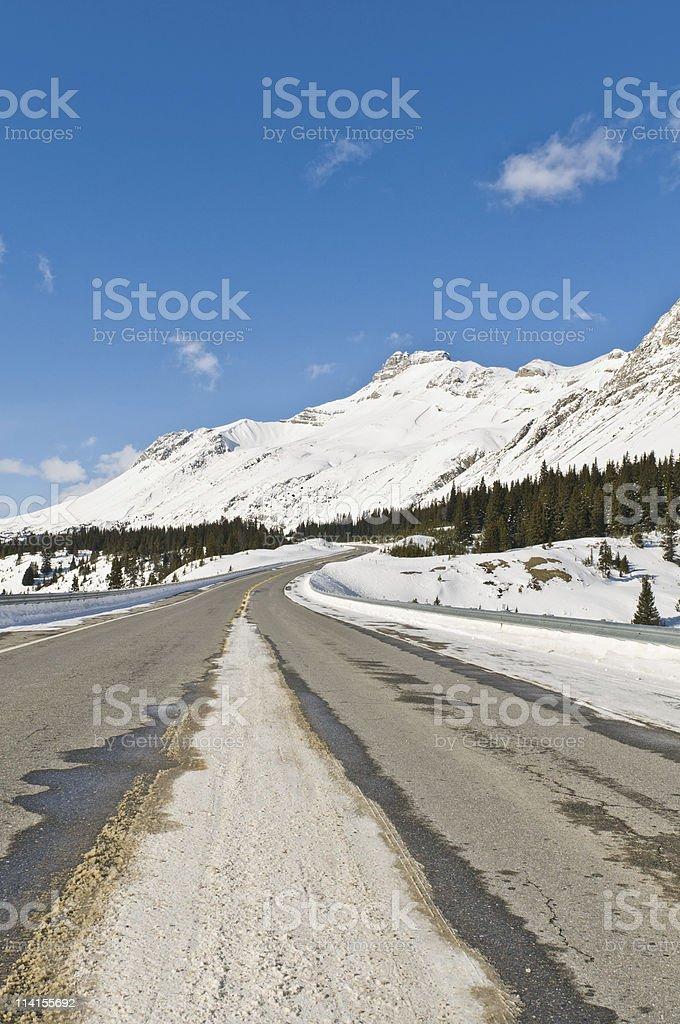 Twisty mountain highway royalty-free stock photo