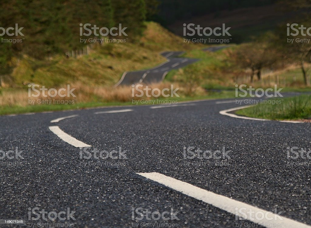 Twisty Road royalty-free stock photo