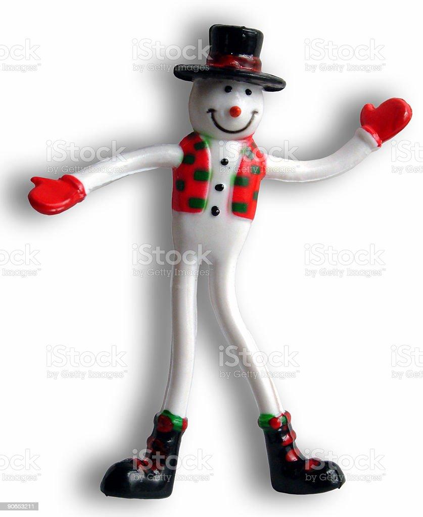 Twisty Snowman stock photo