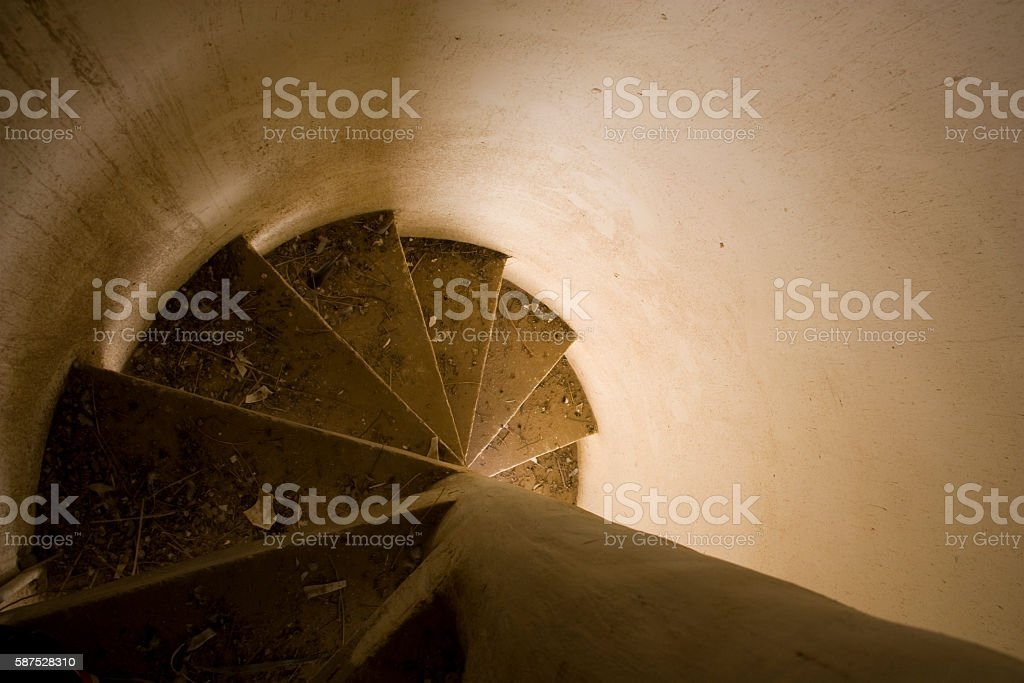 Twisty Stairscases stock photo