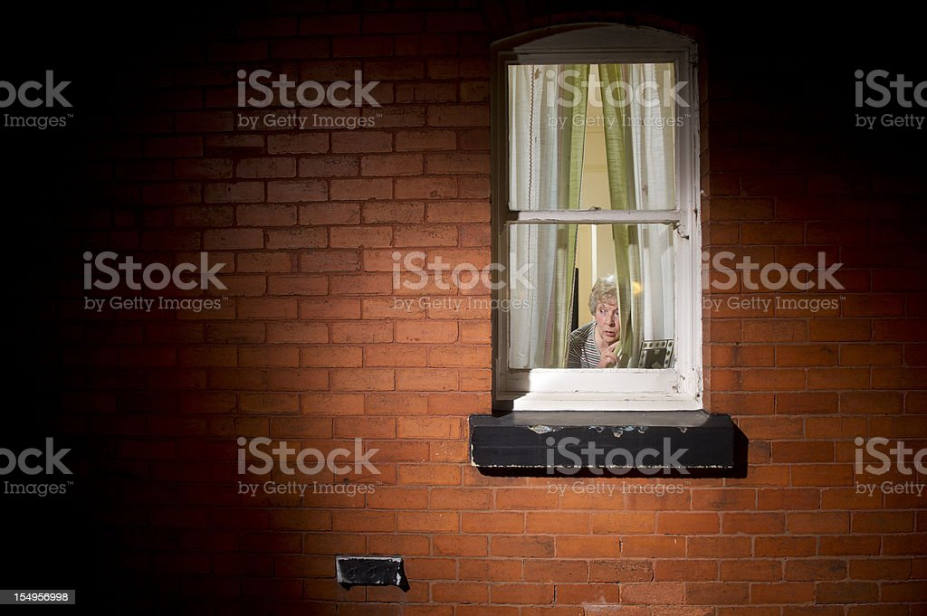twitchy curtain stock photo