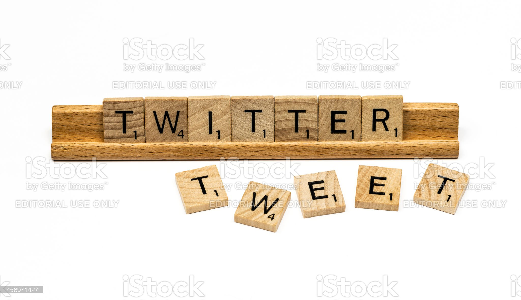 Twitter and Tweet royalty-free stock photo