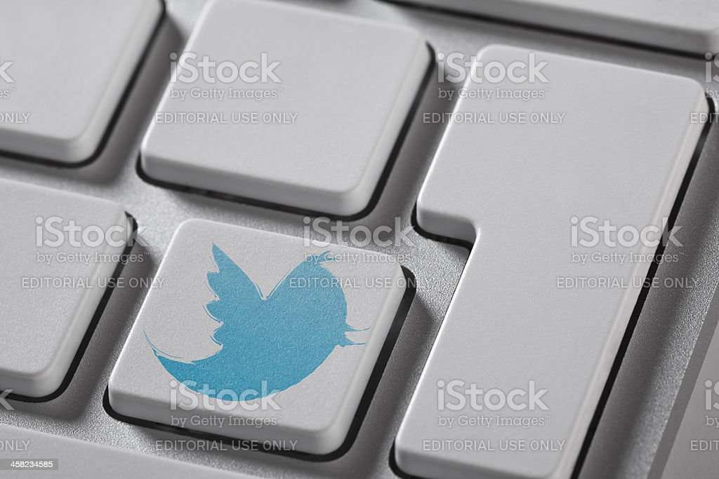 Twitter Button stock photo
