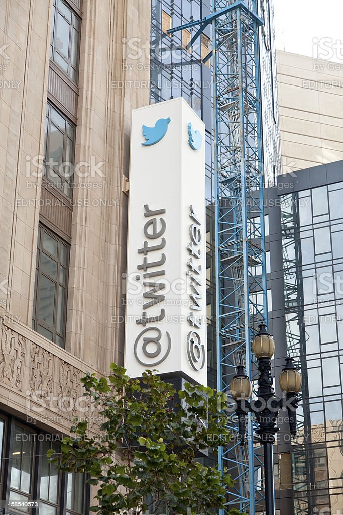 Twitter Headquarters on Market Street in San Francisco stock photo