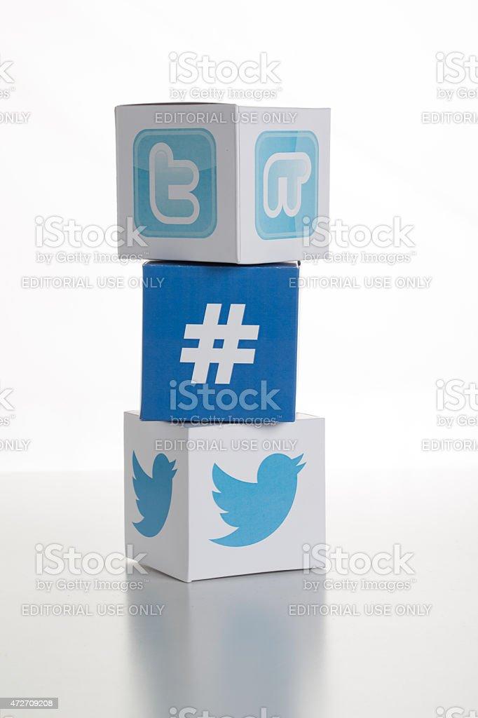 Twitter Logos-Icons stock photo