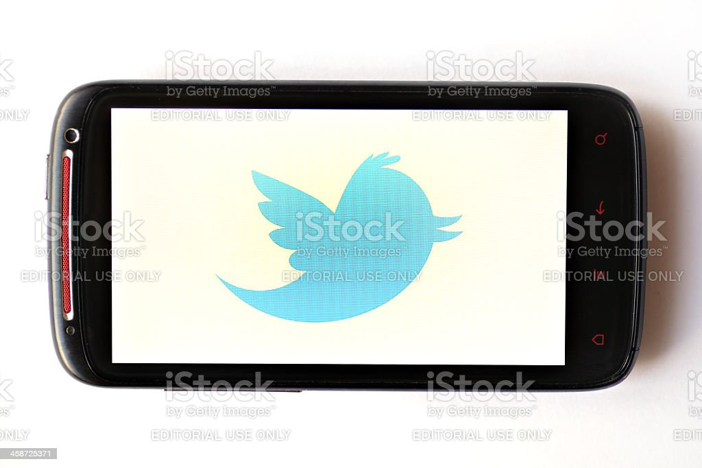 Twitter phone royalty-free stock photo