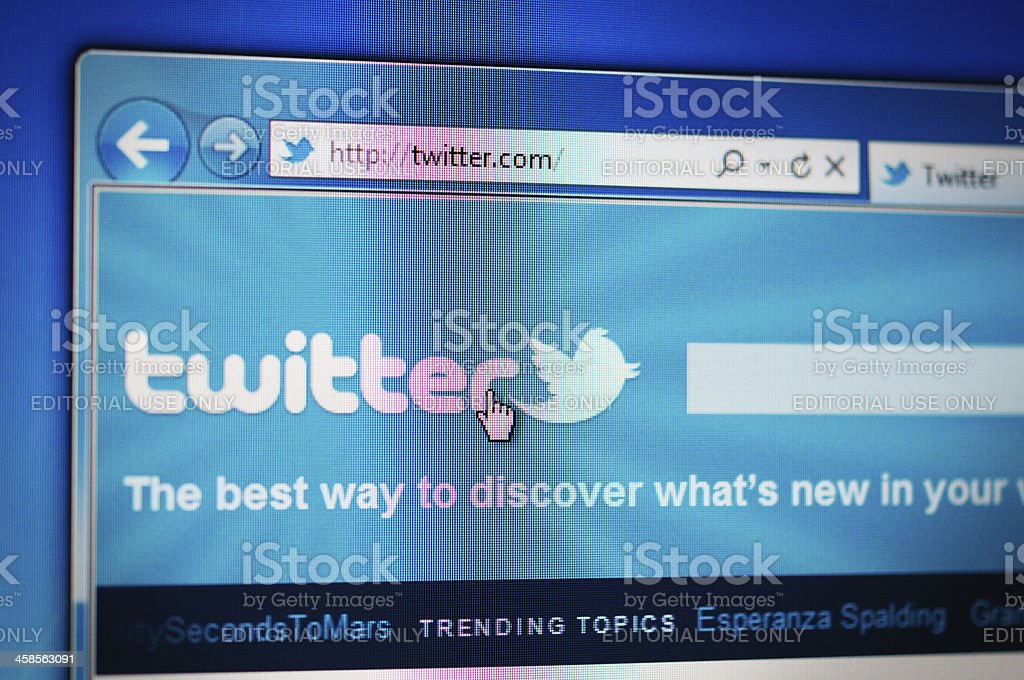Twitter royalty-free stock photo