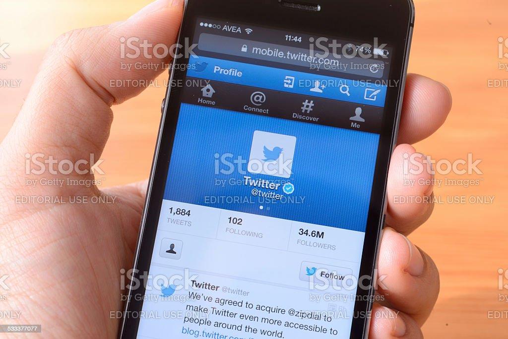 Twitter stock photo
