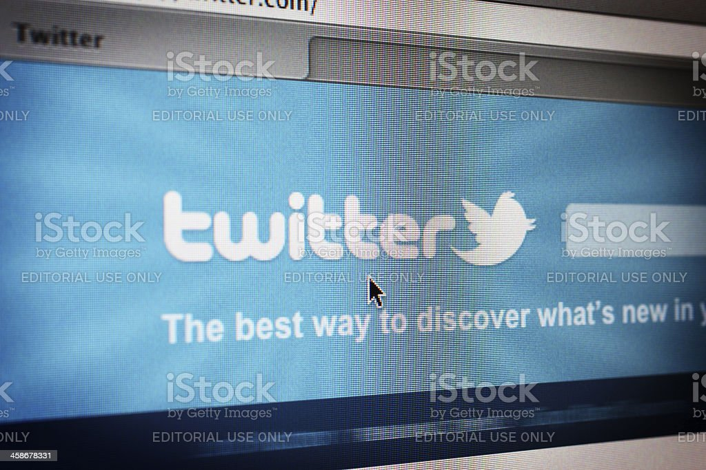 Twitter Website royalty-free stock photo