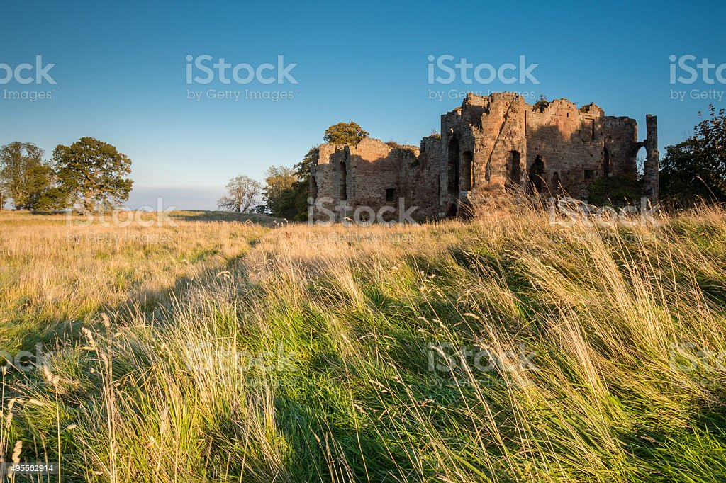 Twizel Castle stock photo