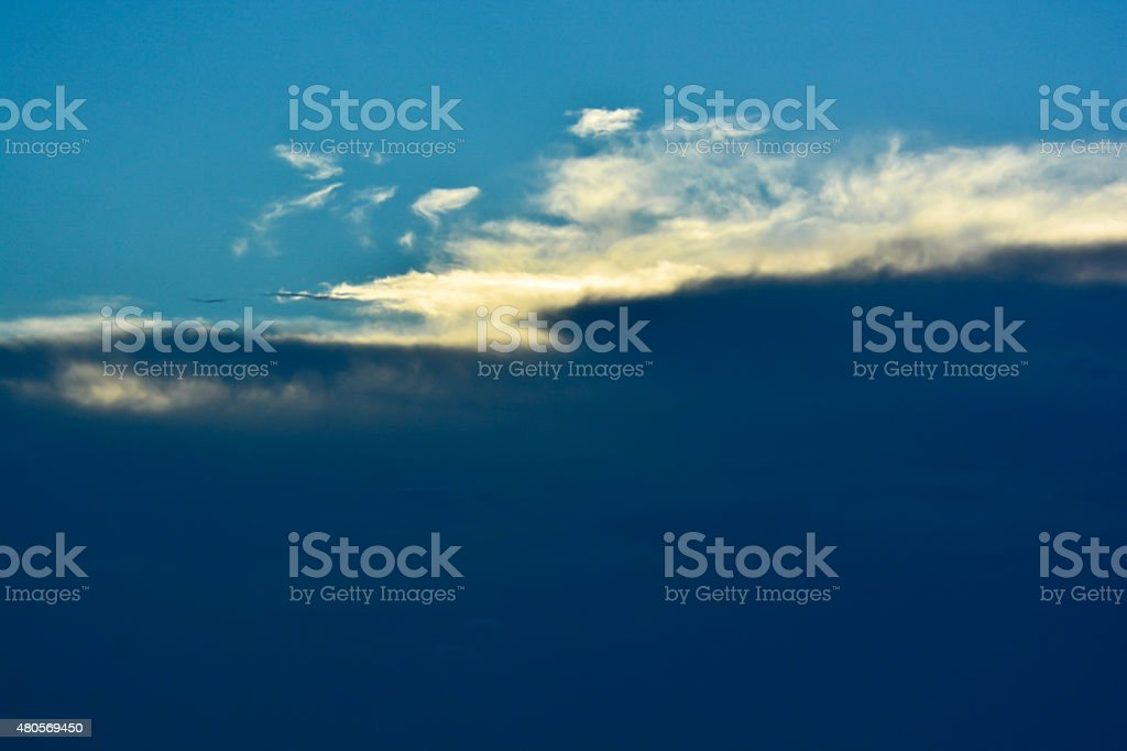 Twlight Cloud stock photo