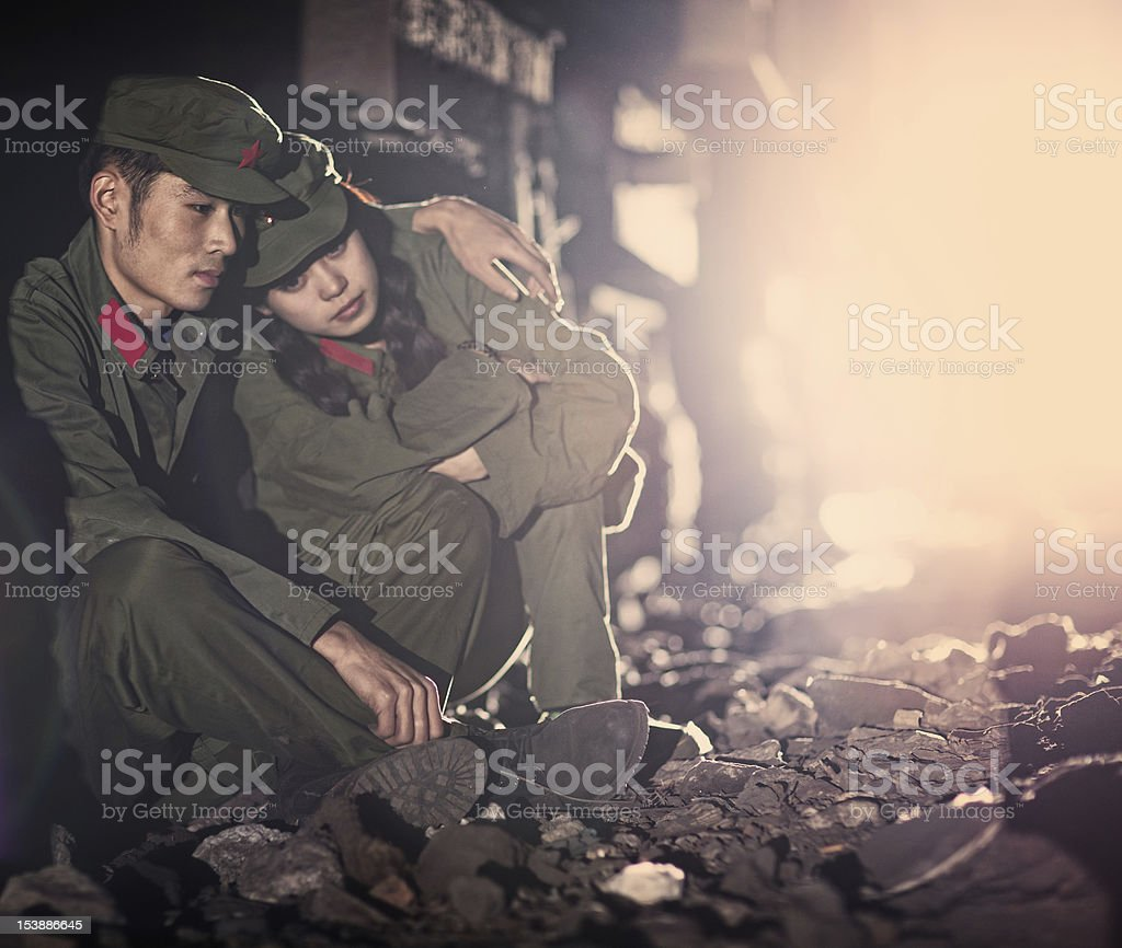 Two abandoned chinese rebels royalty-free stock photo