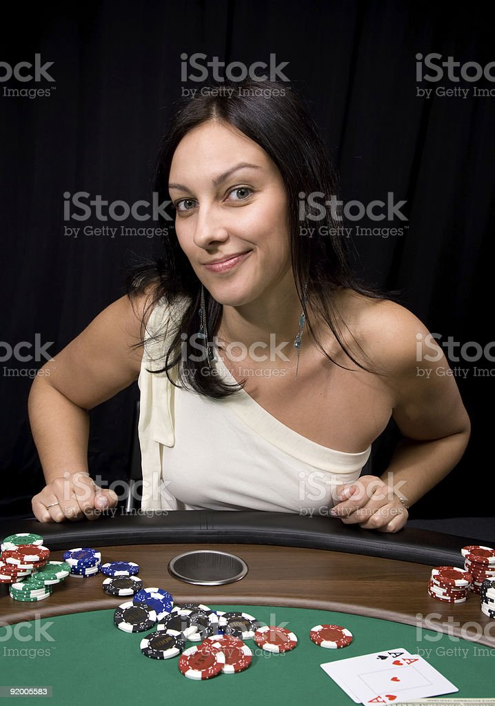 Two ace in casino royalty-free stock photo