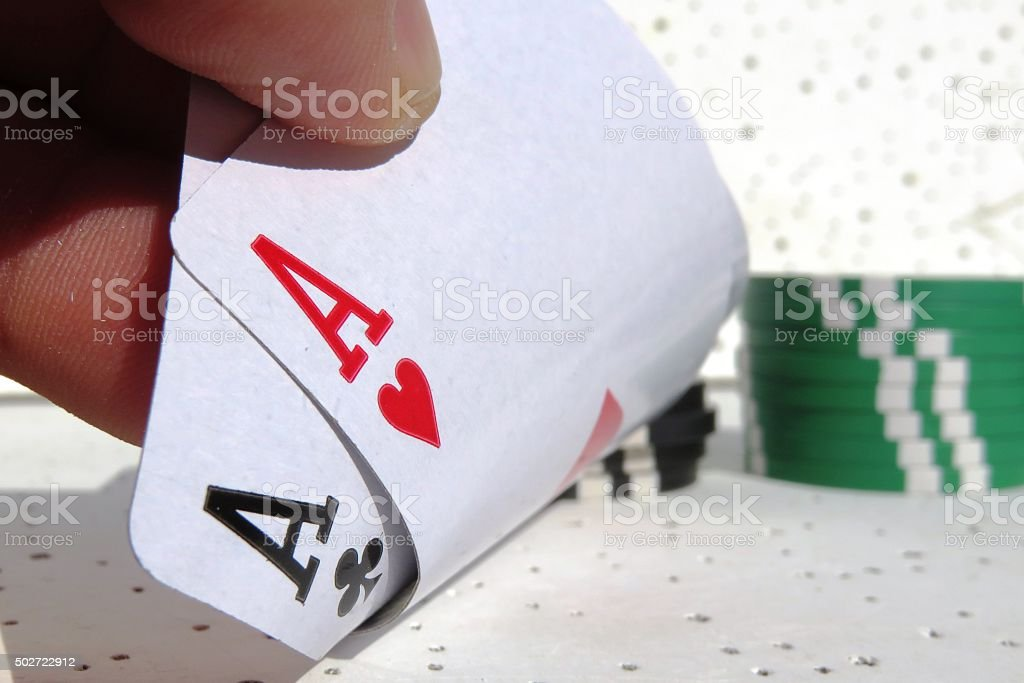 Two aces, a good start stock photo