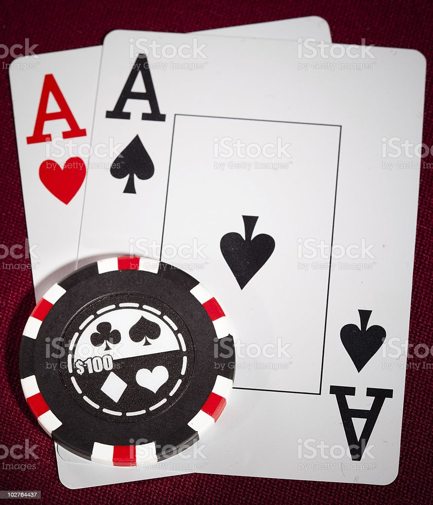Two Aces royalty-free stock photo