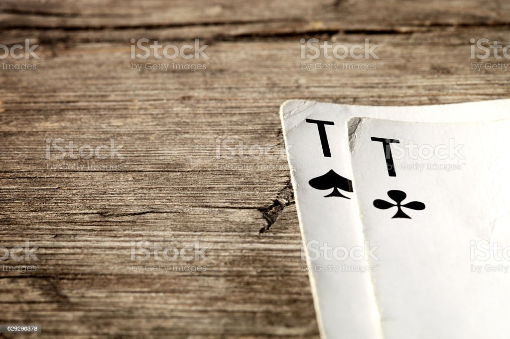 Two aces. stock photo